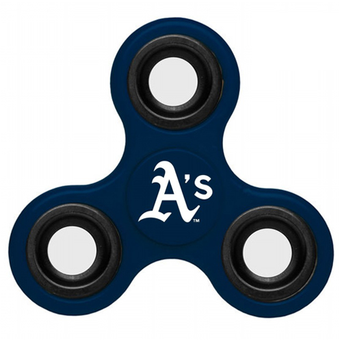 MLB Oakland Athletics 3 Way Fidget Spinner B52 - Navy