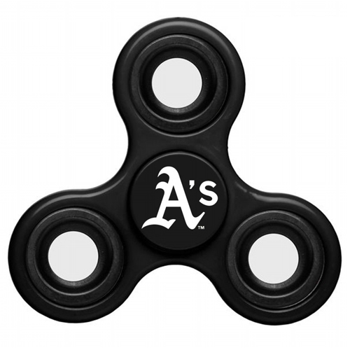 MLB Oakland Athletics 3 Way Fidget Spinner C52 - Black