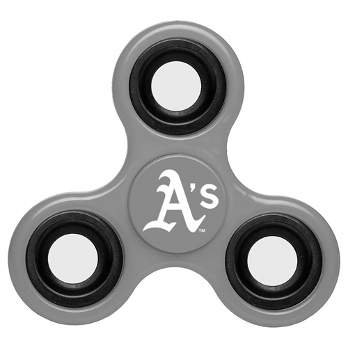 MLB Oakland Athletics 3 Way Fidget Spinner G52 - Gray