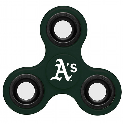 MLB Oakland Athletics 3 Way Fidget Spinner J52 - Green