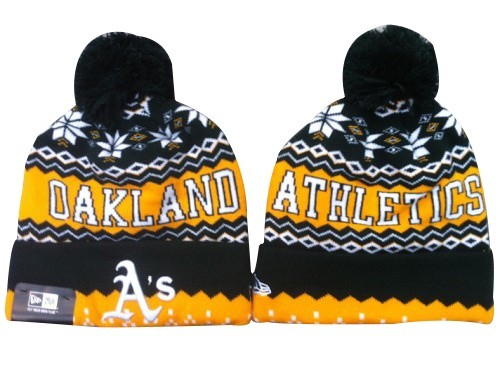 MLB Oakland Athletics Stitched Knit Beanies Hats 013