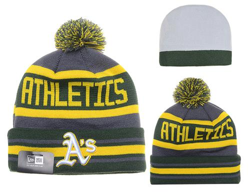 MLB Oakland Athletics Stitched Knit Beanies Hats 014
