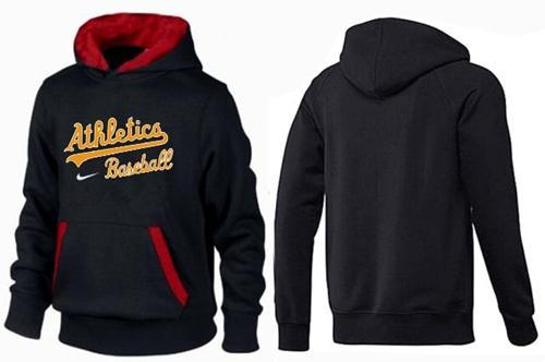 MLB Men's Nike Oakland Athletics Pullover Hoodie - Black/Red
