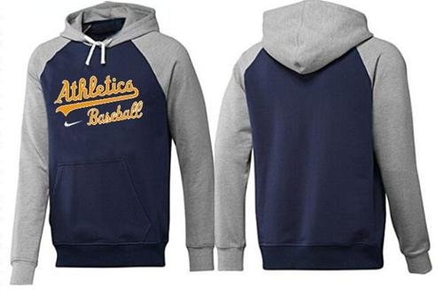 MLB Men's Nike Oakland Athletics Pullover Hoodie - Navy/Grey