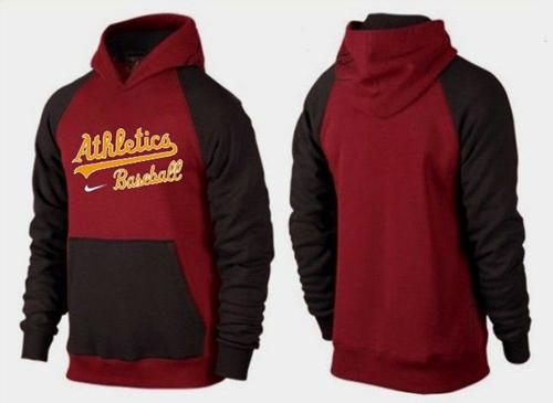 MLB Men's Nike Oakland Athletics Pullover Hoodie - Red/Brown