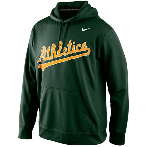 MLB Oakland Athletics Nike Men's KO Wordmark Perfomance Hoodie - Green