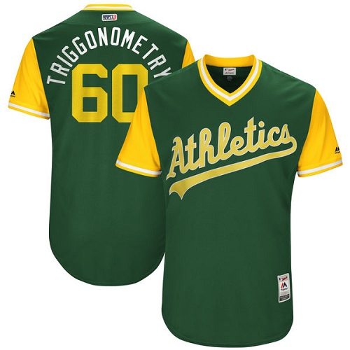 Men's Majestic Oakland Athletics #60 Andrew Triggs