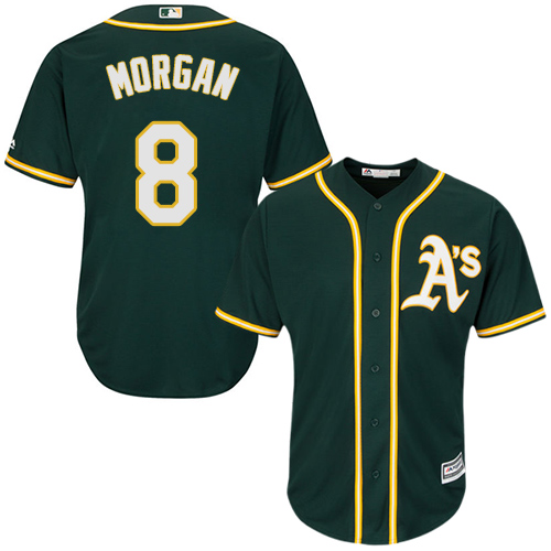 Youth Majestic Oakland Athletics #8 Joe Morgan Replica Green Alternate 1 Cool Base MLB Jersey