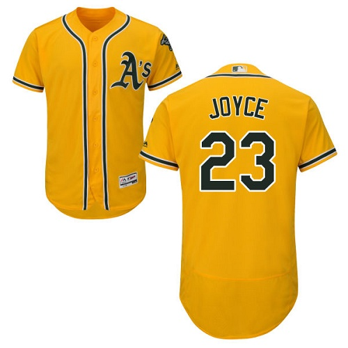 Men's Majestic Oakland Athletics #23 Matt Joyce Gold Flexbase Authentic Collection MLB Jersey