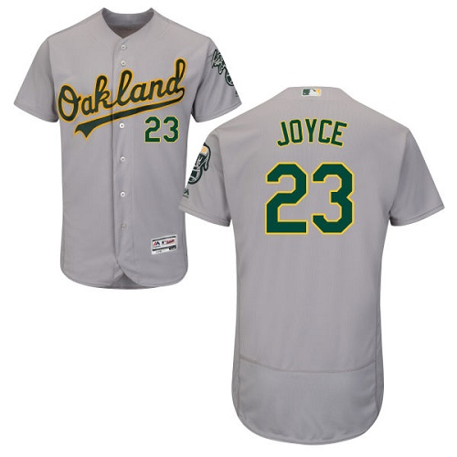 Men's Majestic Oakland Athletics #23 Matt Joyce Grey Flexbase Authentic Collection MLB Jersey