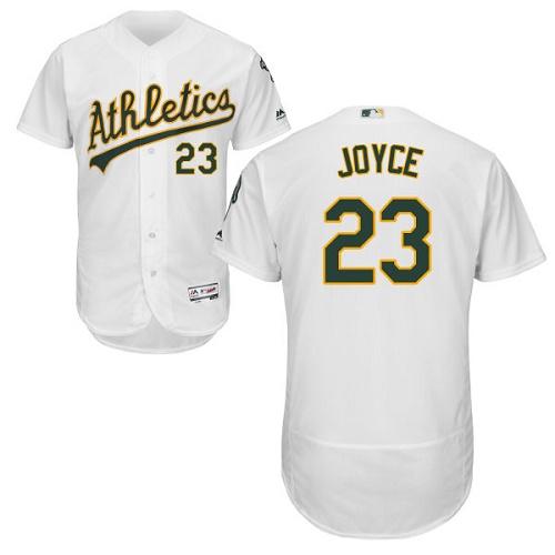 Men's Majestic Oakland Athletics #23 Matt Joyce White Flexbase Authentic Collection MLB Jersey