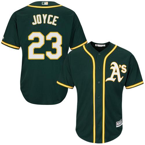 Youth Majestic Oakland Athletics #23 Matt Joyce Authentic Green Alternate 1 Cool Base MLB Jersey