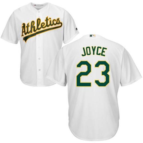 Youth Majestic Oakland Athletics #23 Matt Joyce Authentic White Home Cool Base MLB Jersey