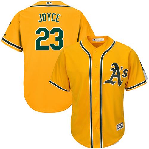 Youth Majestic Oakland Athletics #23 Matt Joyce Replica Gold Alternate 2 Cool Base MLB Jersey