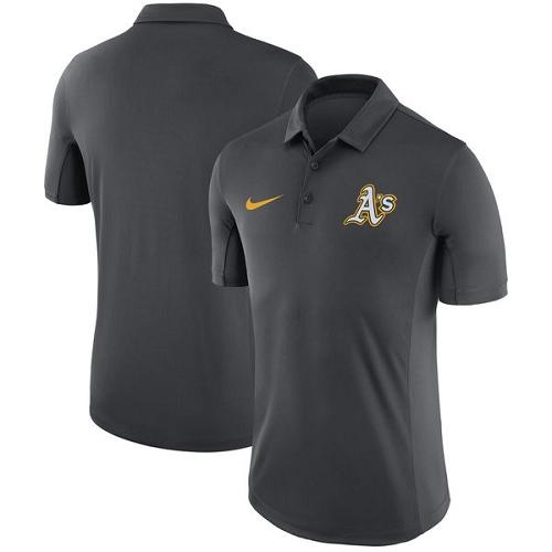 MLB Men's Oakland Athletics Nike Anthracite Franchise Polo T-Shirt