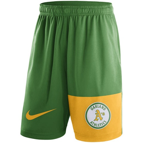 MLB Men's Oakland Athletics Nike Green Cooperstown Collection Dry Fly Shorts
