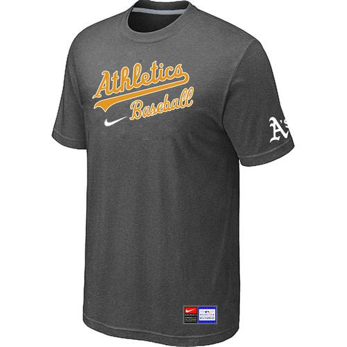 MLB Men's Oakland Athletics Nike Practice T-Shirt - Dark Grey