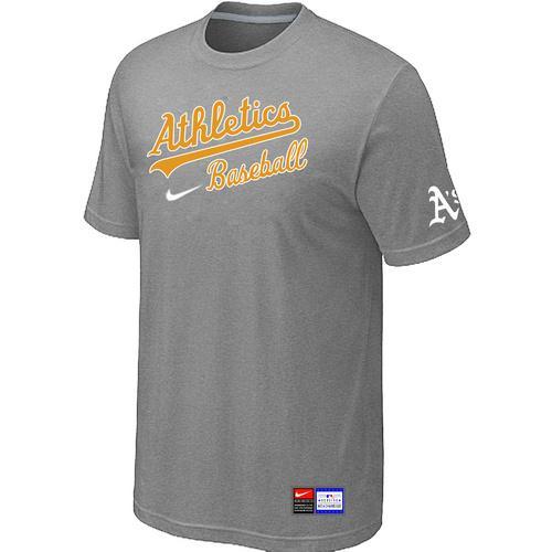 MLB Men's Oakland Athletics Nike Practice T-Shirt - Grey