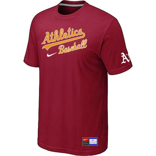 MLB Men's Oakland Athletics Nike Practice T-Shirt - Red
