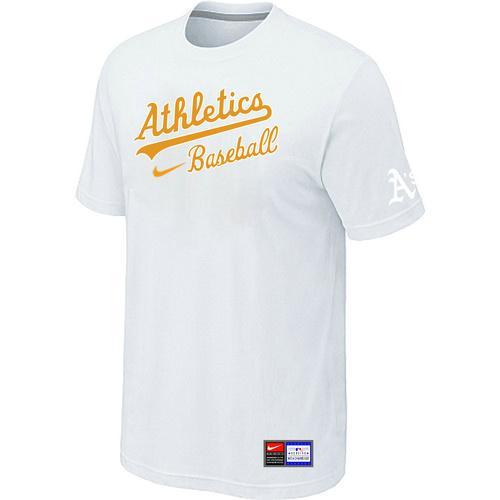 MLB Men's Oakland Athletics Nike Practice T-Shirt - White