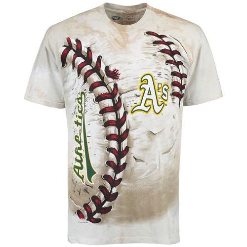 MLB Oakland Athletics Hardball Tie-Dye T-Shirt - Cream