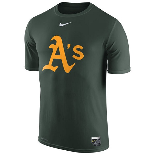 MLB Oakland Athletics Nike Authentic Collection Legend Logo 1.5 Performance T-Shirt - Green